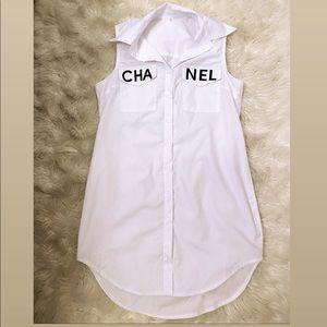 Chanel letter long shirt (not an actual brand!!!)